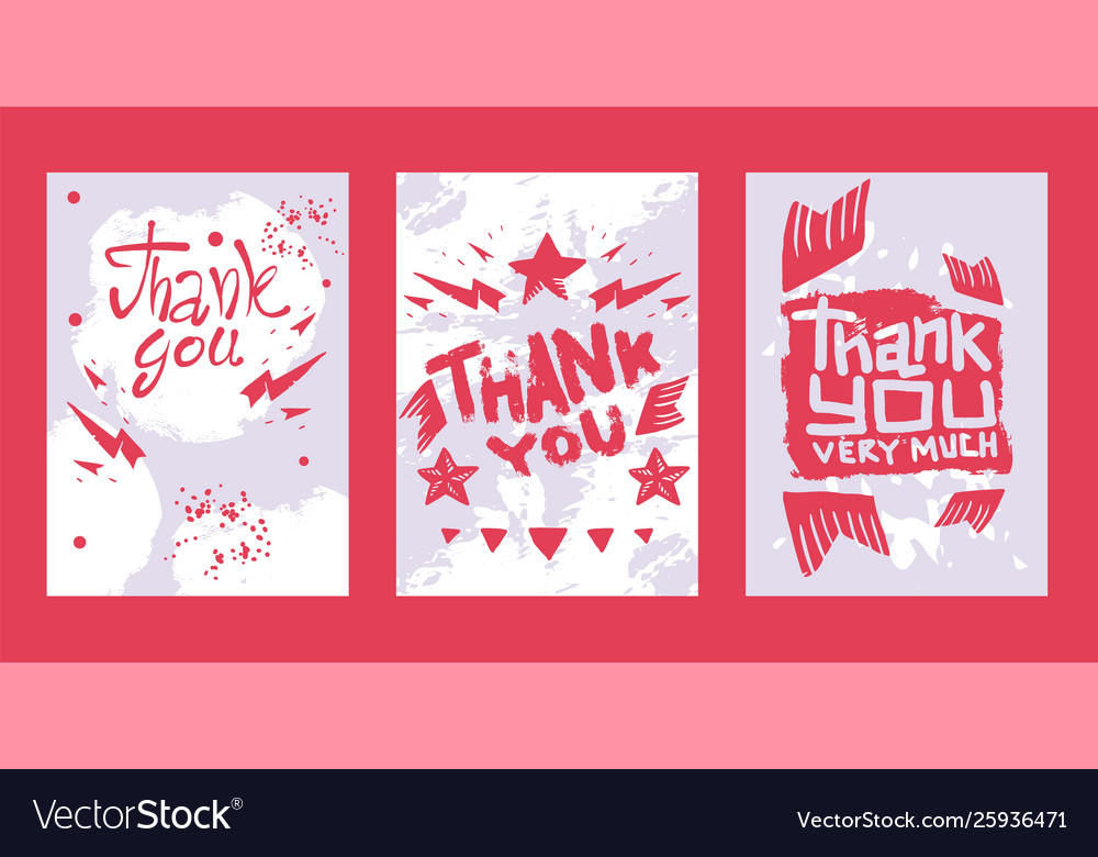 Lettering thank you very much set cards