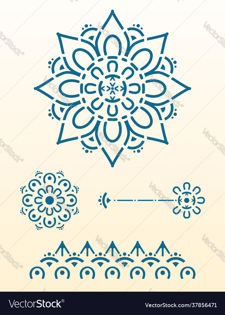 Mandala for laser cut
