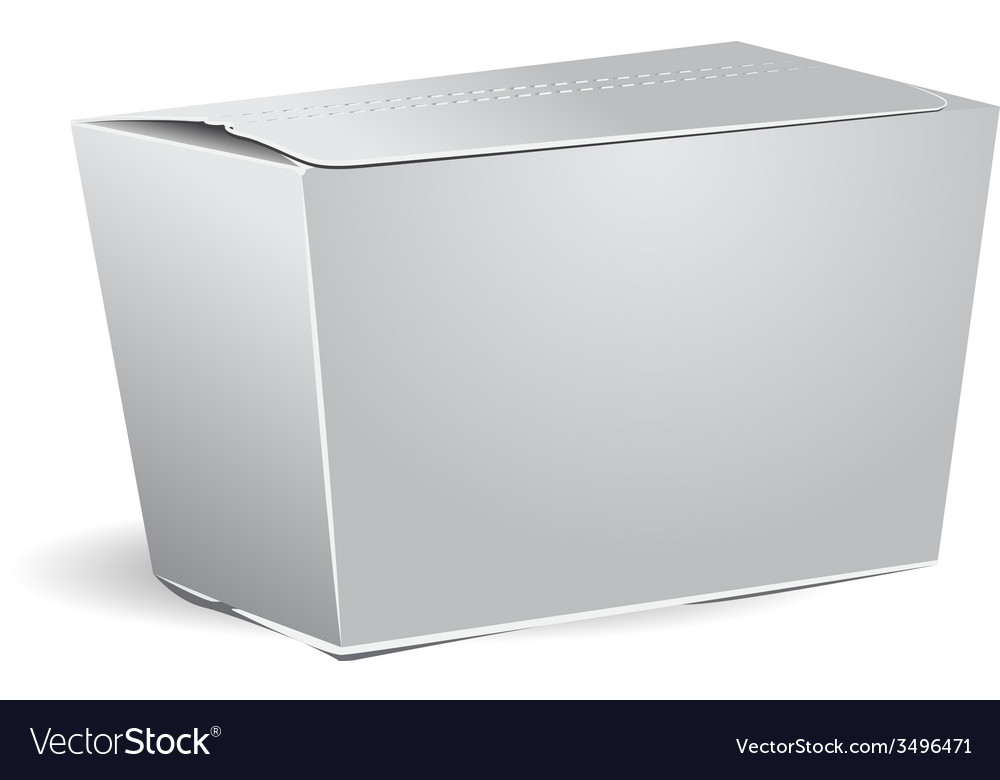 Template white closed gift box vector image
