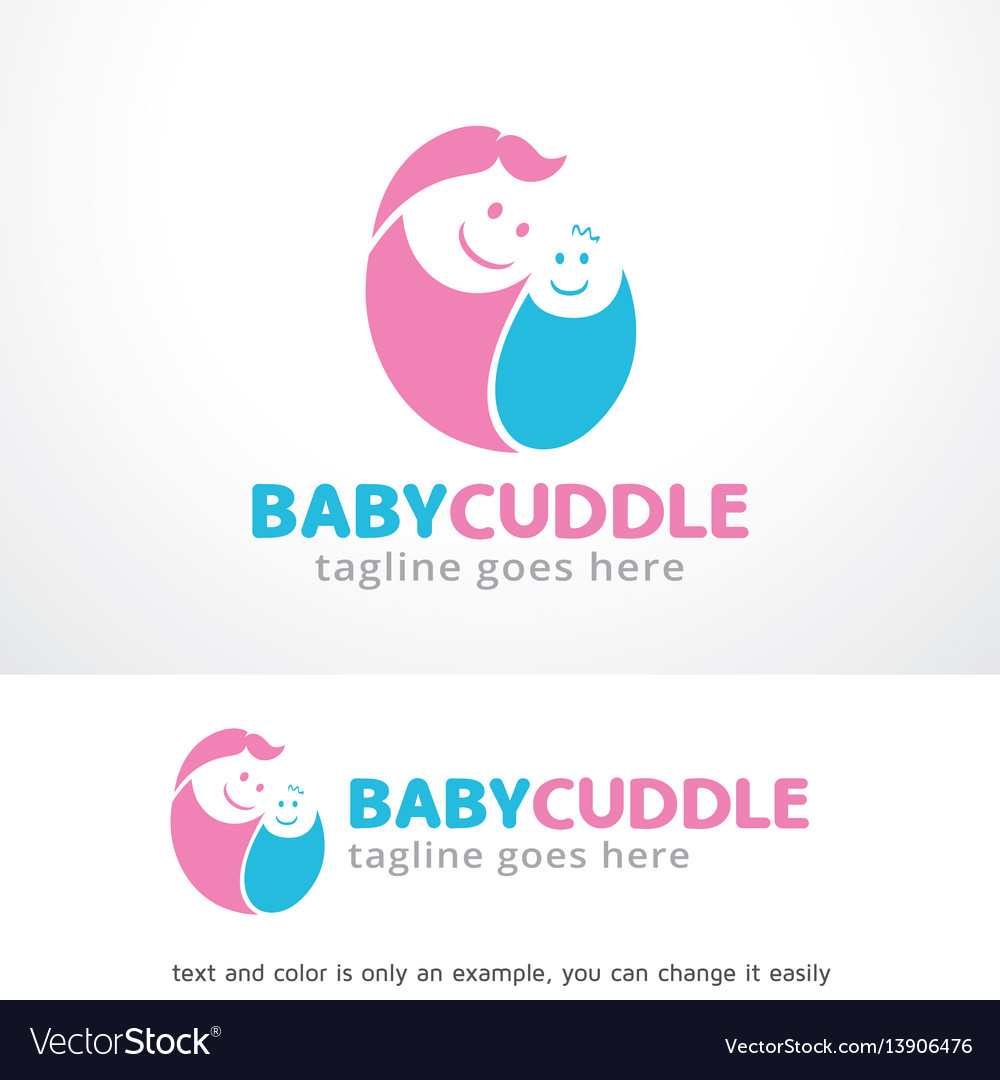 Baby cuddle logo template design