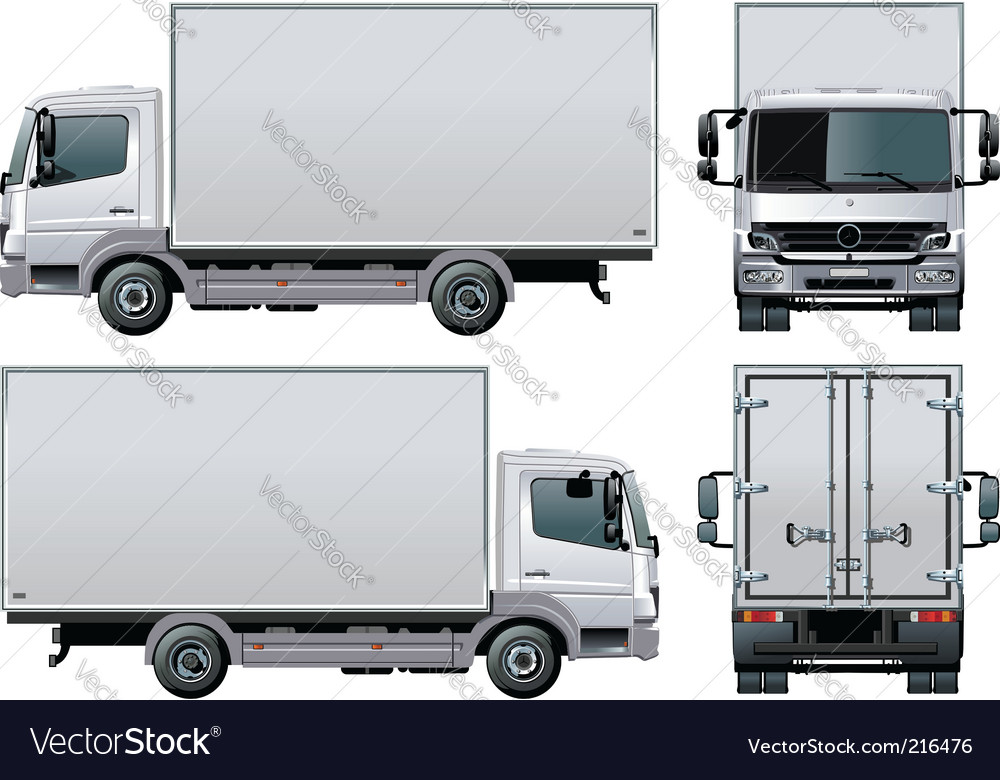 delivery cargo truck royalty free vector image