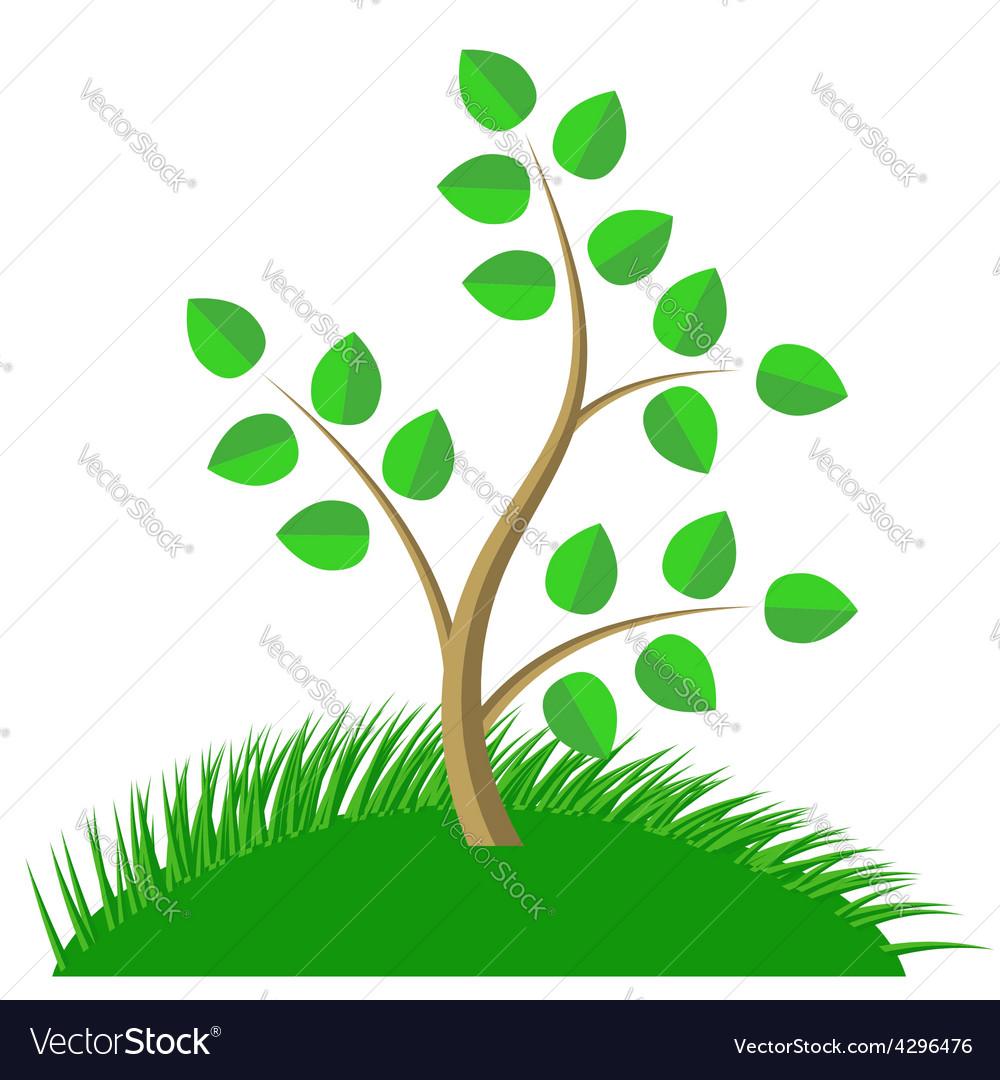 Green Cartoon Tree