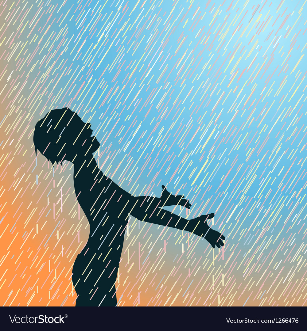 Happy rain vector image