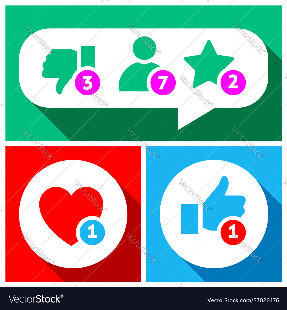 Simple buttons with user feedback social network