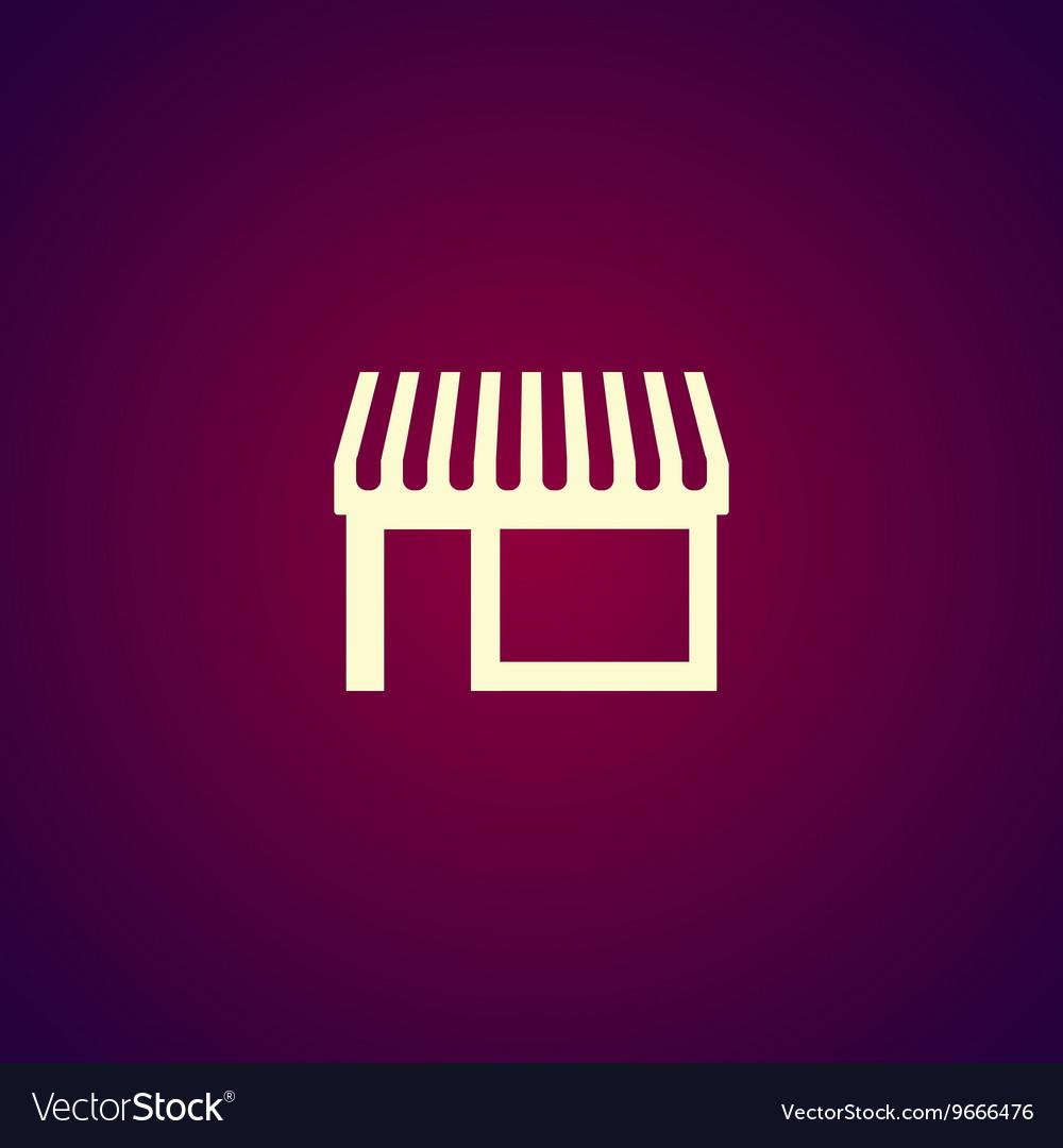 Store icon modern flat design