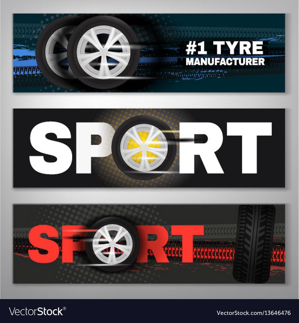 Tyre banner set