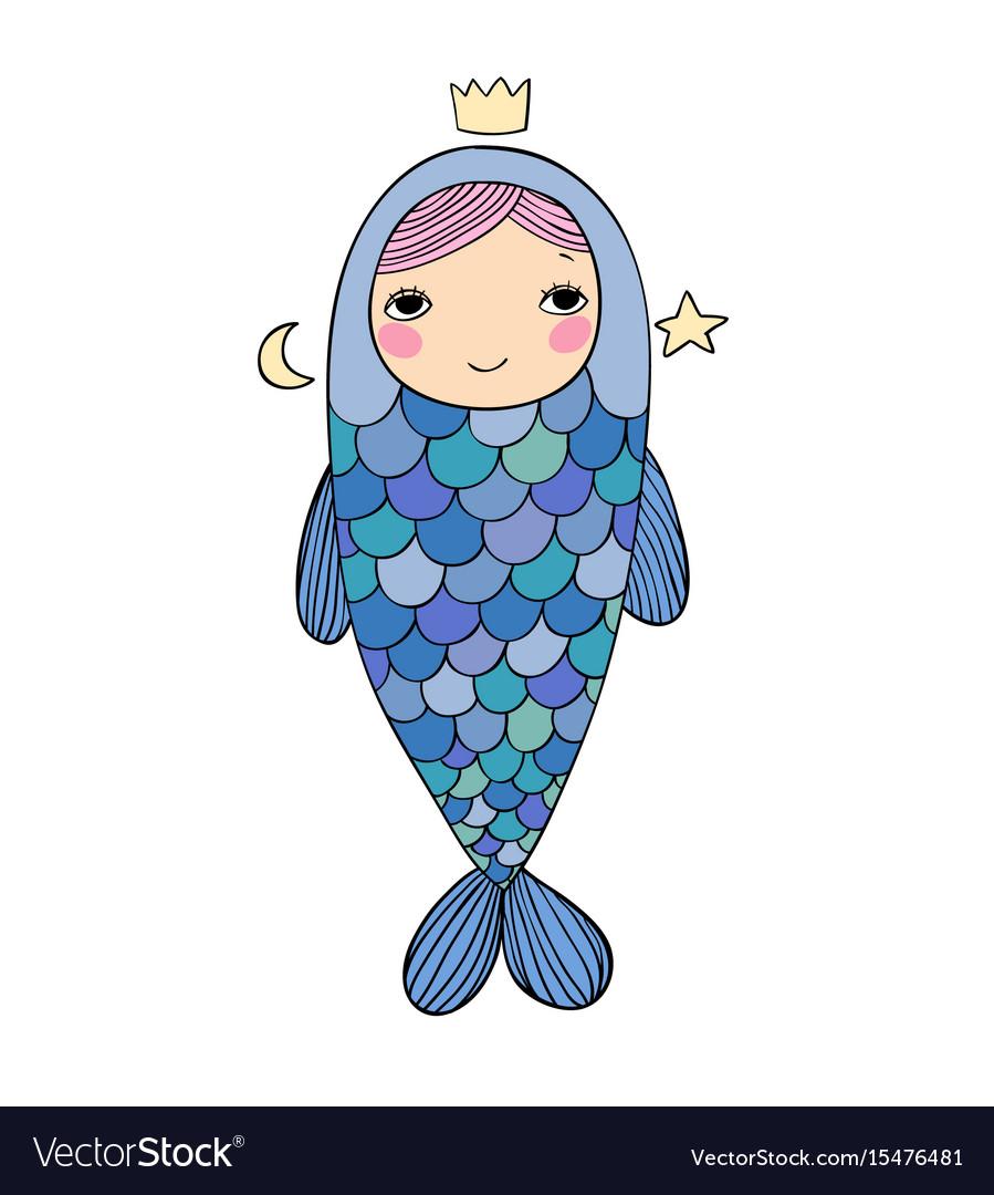 Beautiful little mermaid siren sea theme