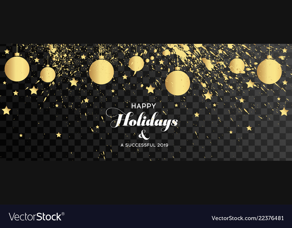 Christmas banners set with fir branches with gold