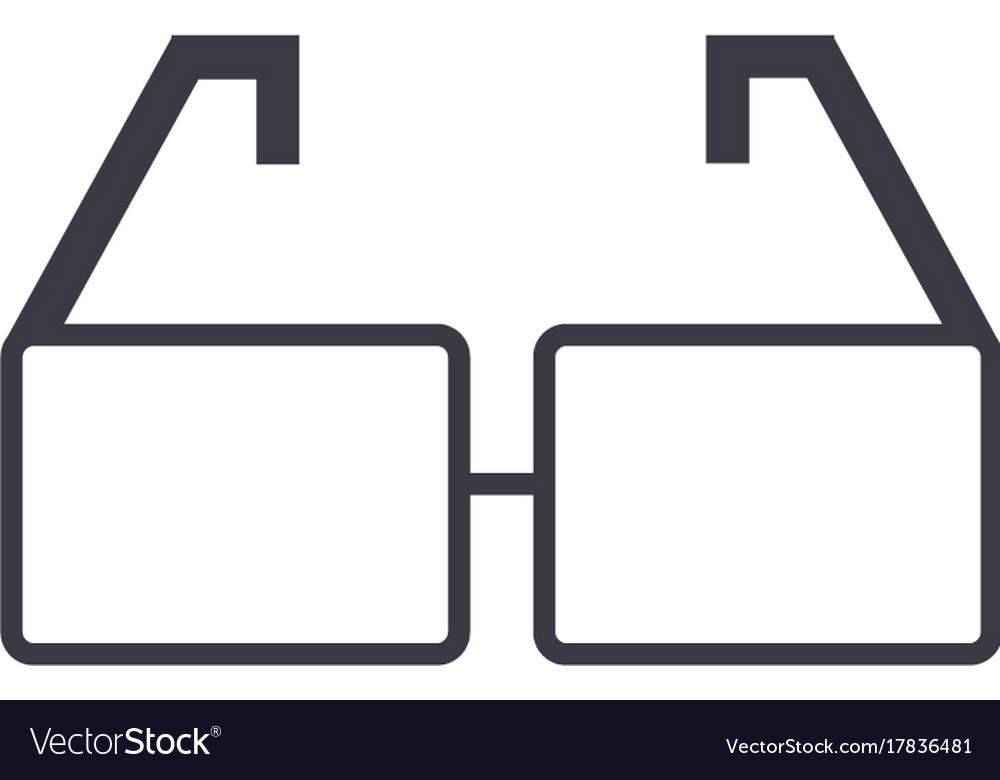 Glasses line icon sign on