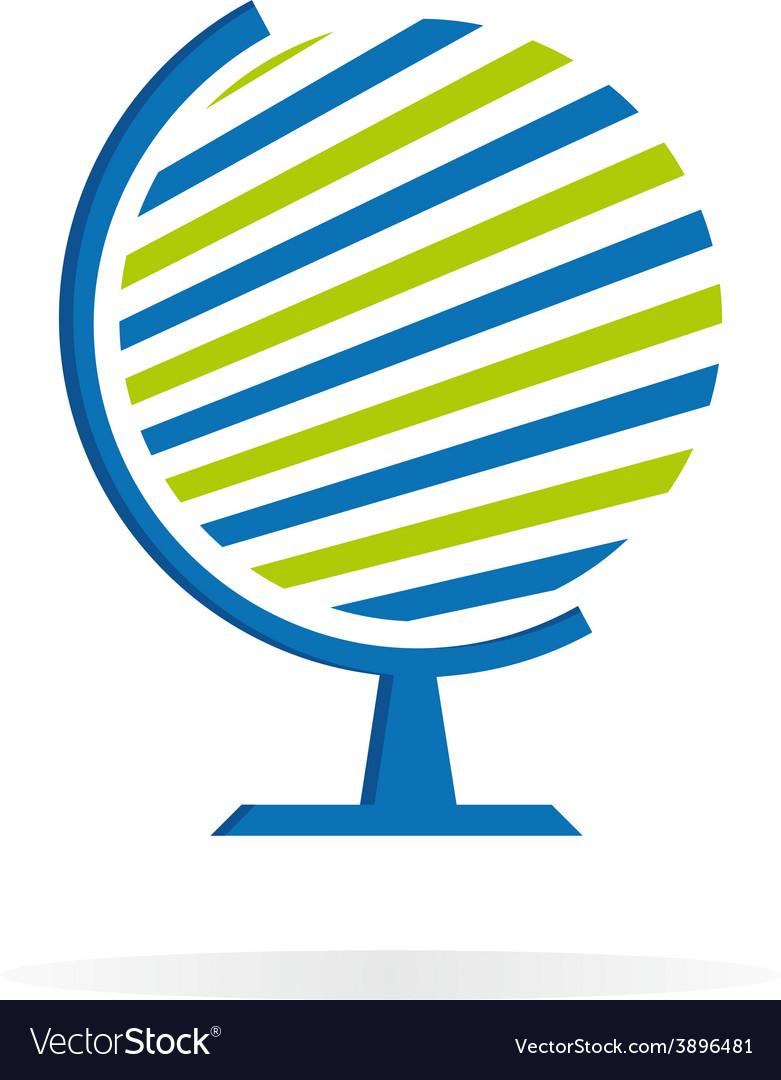 Globe logo template earth sign