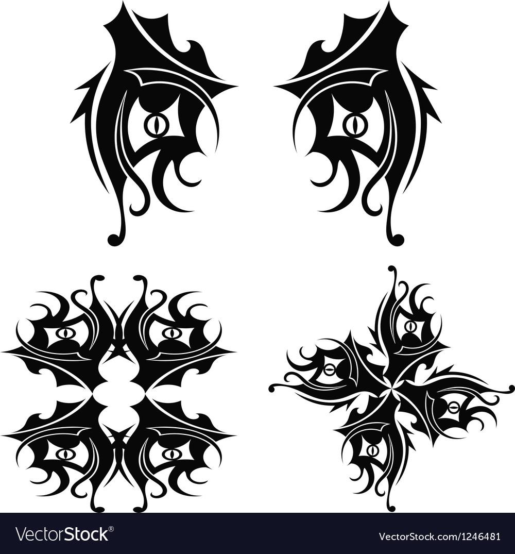 Graphic design Tribal tattoo vector image
