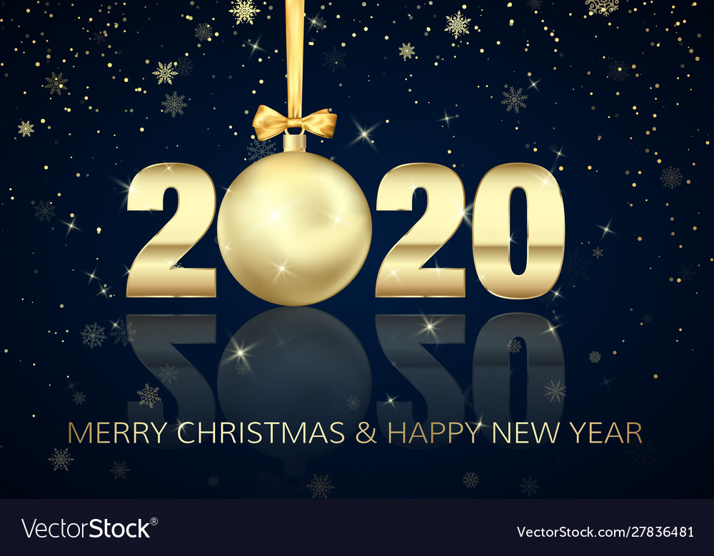 Happy new year and merry christmas poster