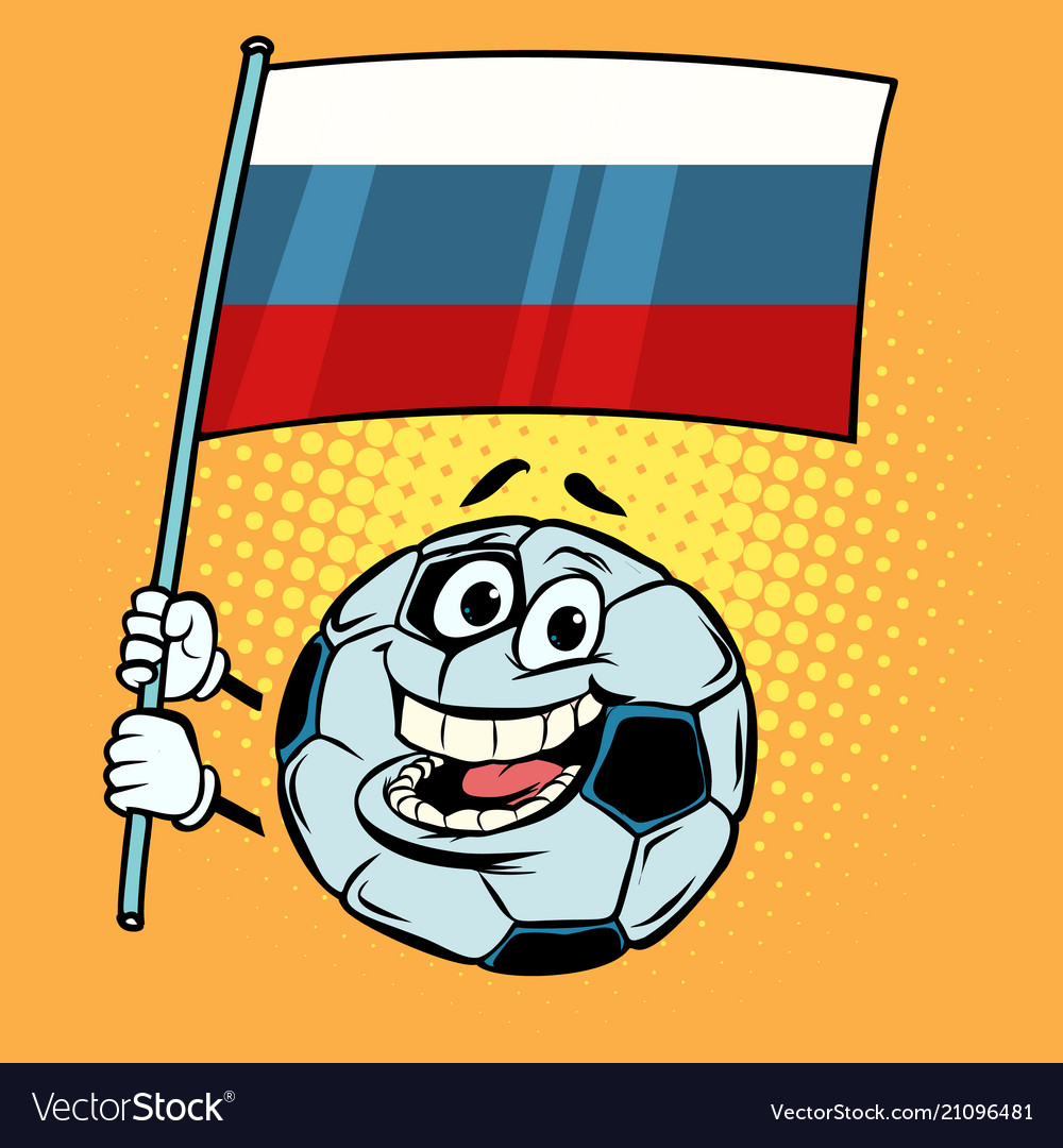 Russia 2018 world cup country flag football