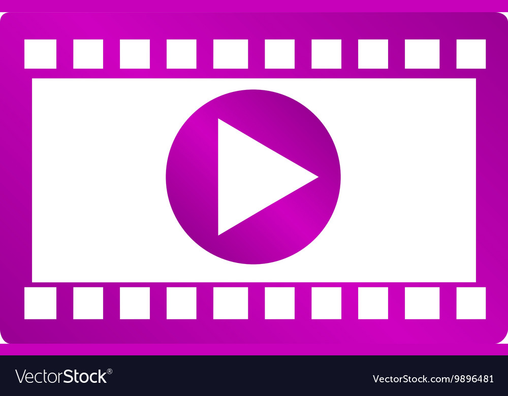 Video icon Flat design style EPS 10
