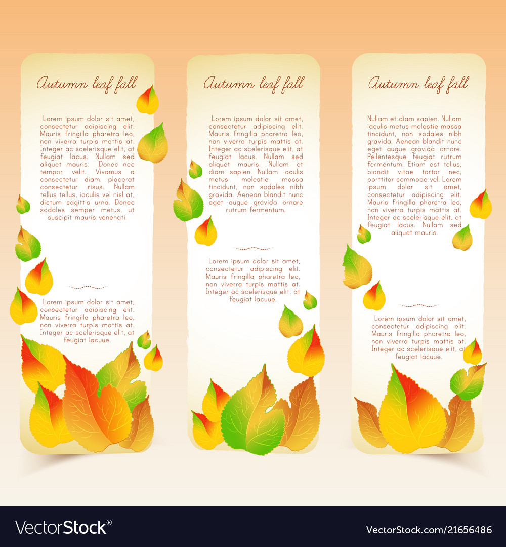 Abstract bright seasonal floral vertical banners