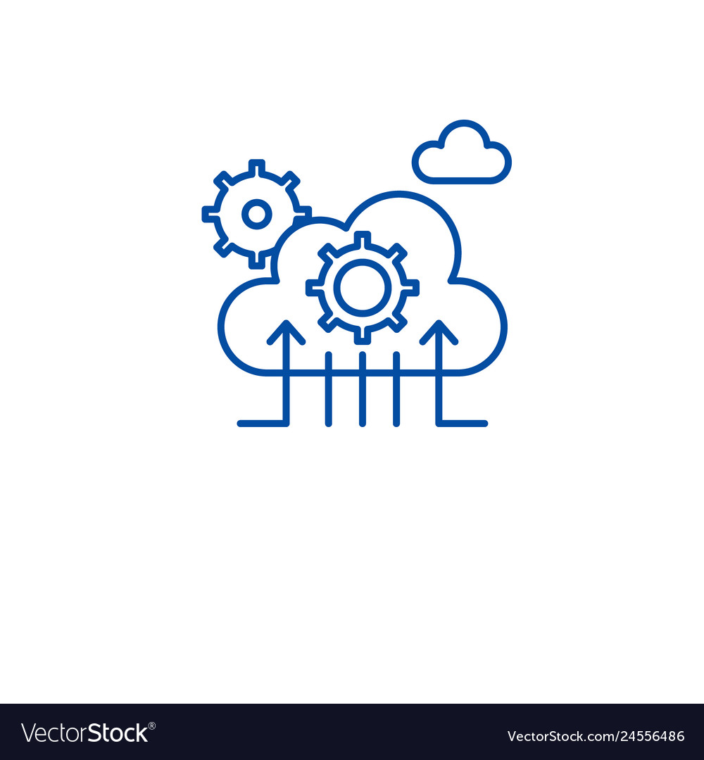 Cloud technology line icon concept cloud