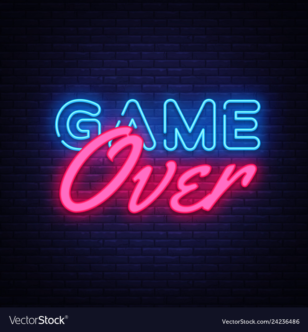 Neon Game Over Sign Vector Images 32