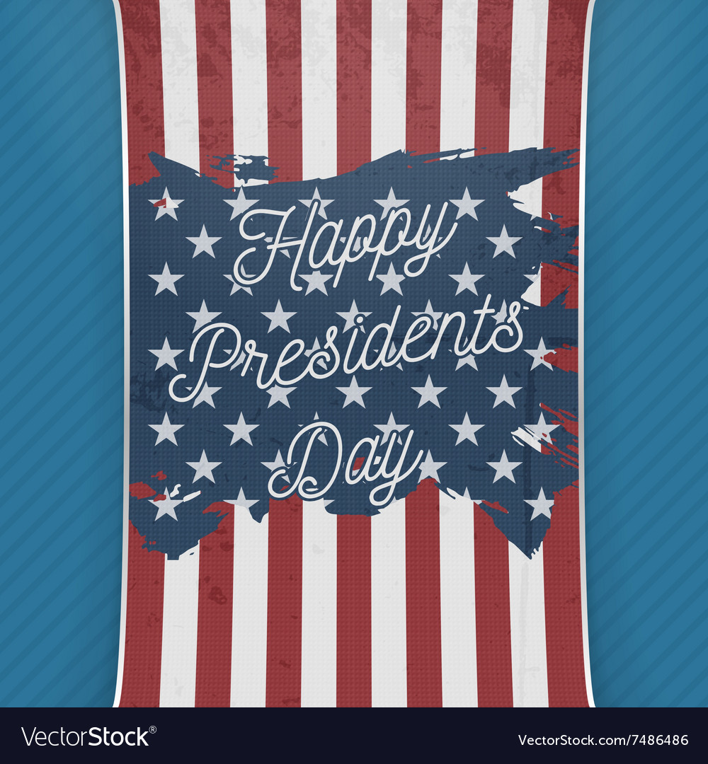 Happy Presidents Day USA national Flag Banner