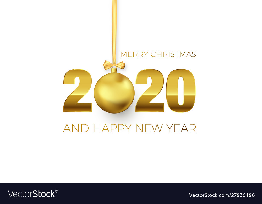 New year poster with greeting text golden