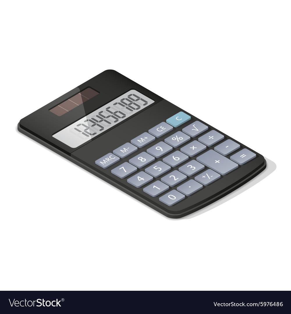 Pocket calculator detailed isometric icon