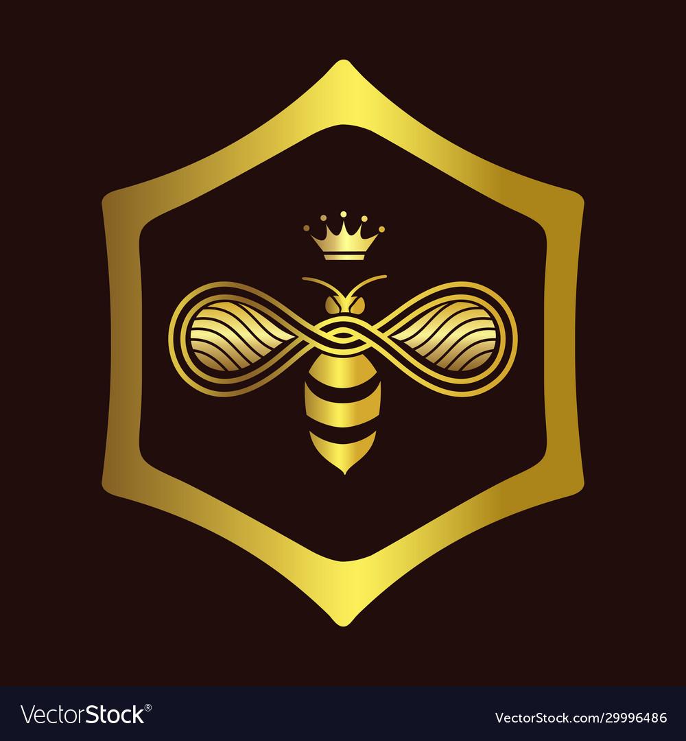 Queen bee logo