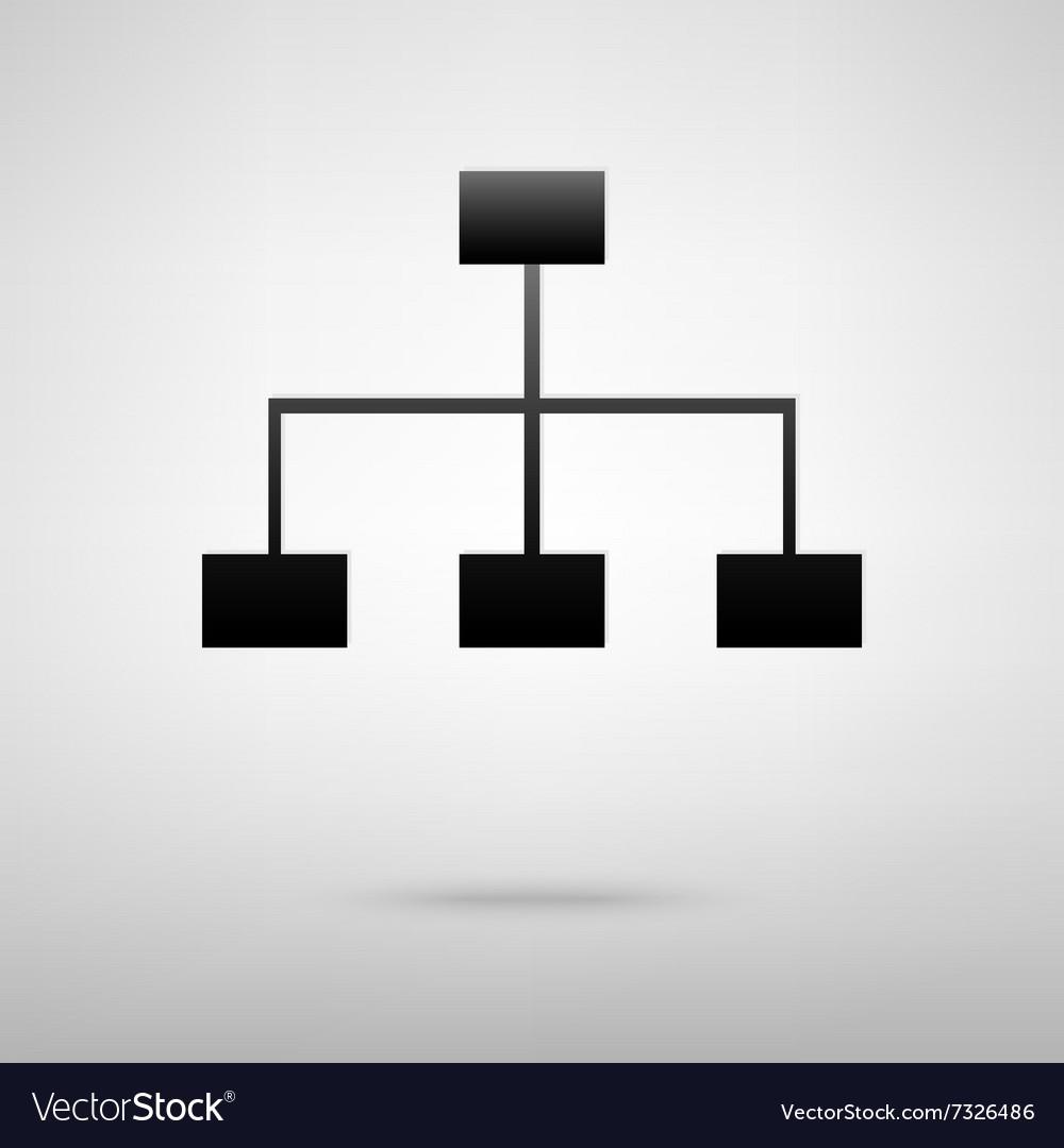 Site map black icon