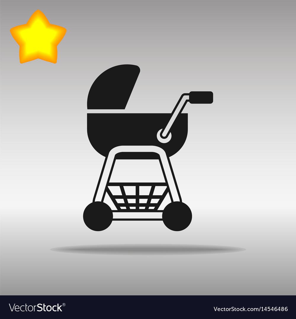 Stroller black icon button logo symbol concept