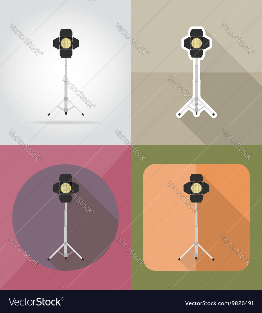 Cinema flat icons 01