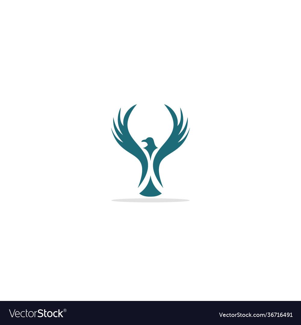 Eagle bird fly wing logo