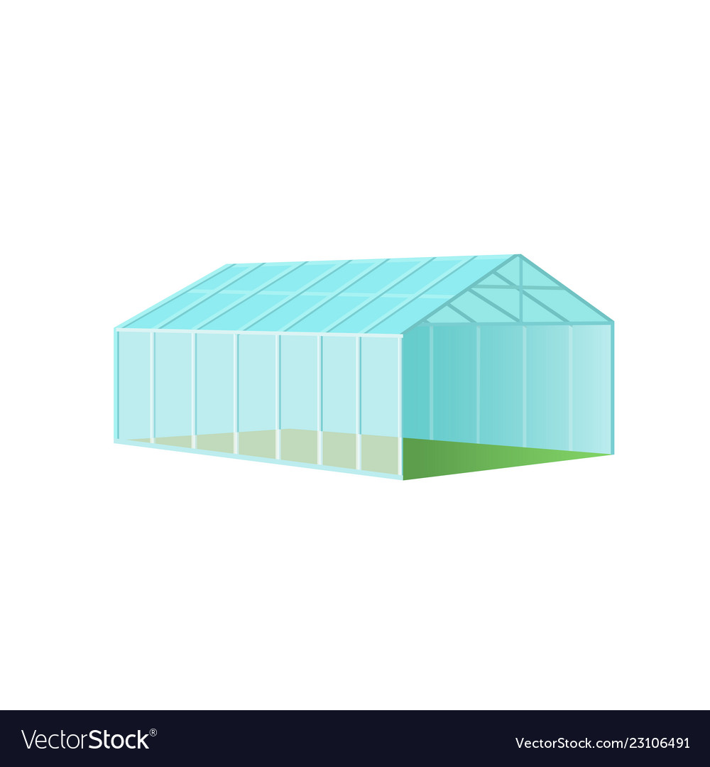 Greenhouse with polycarbonate glazing