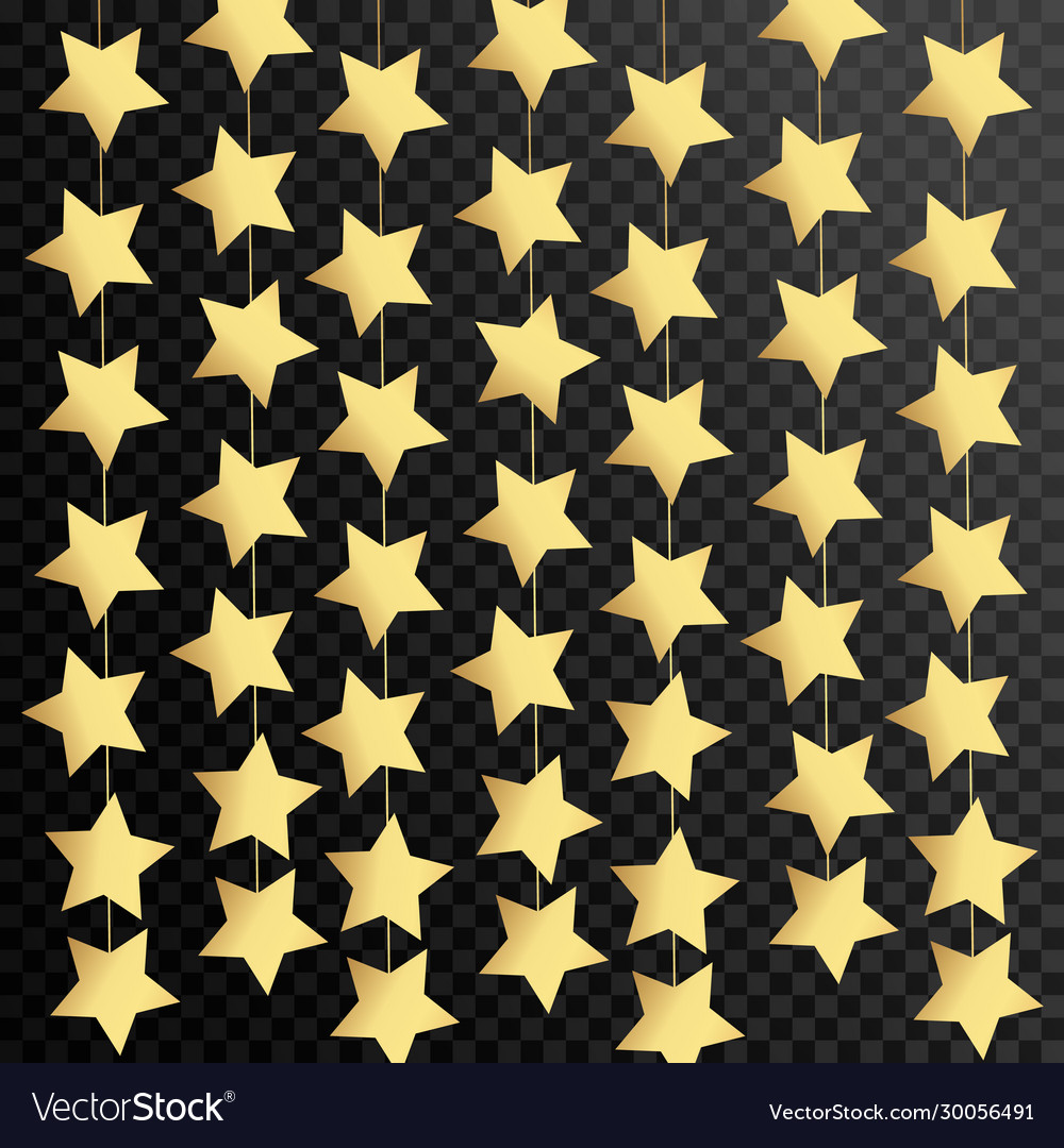 Luxury black background with gold stars