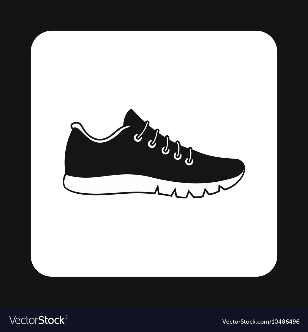 Black sneaker icon simple style