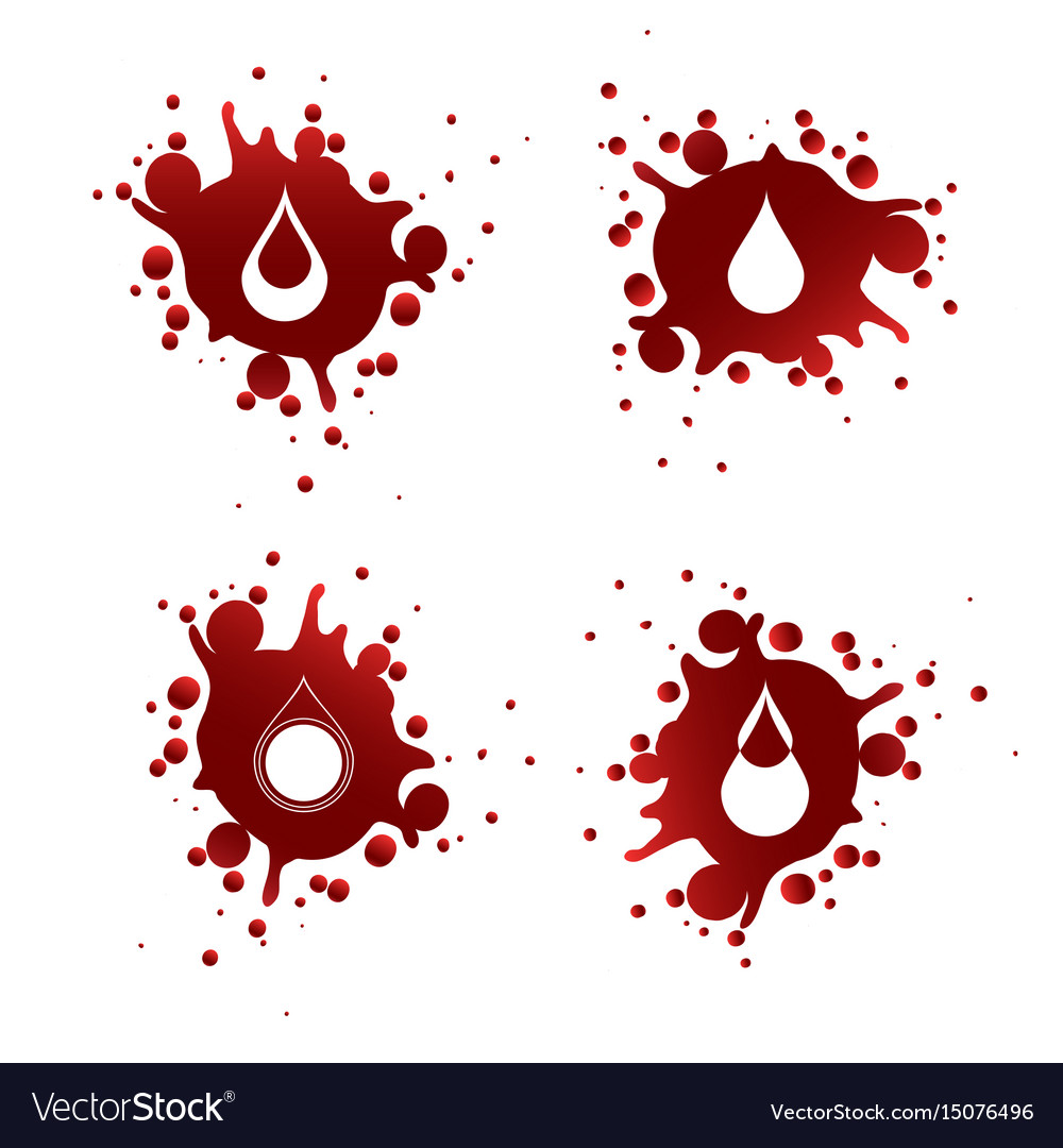 Blood splashes with white drops
