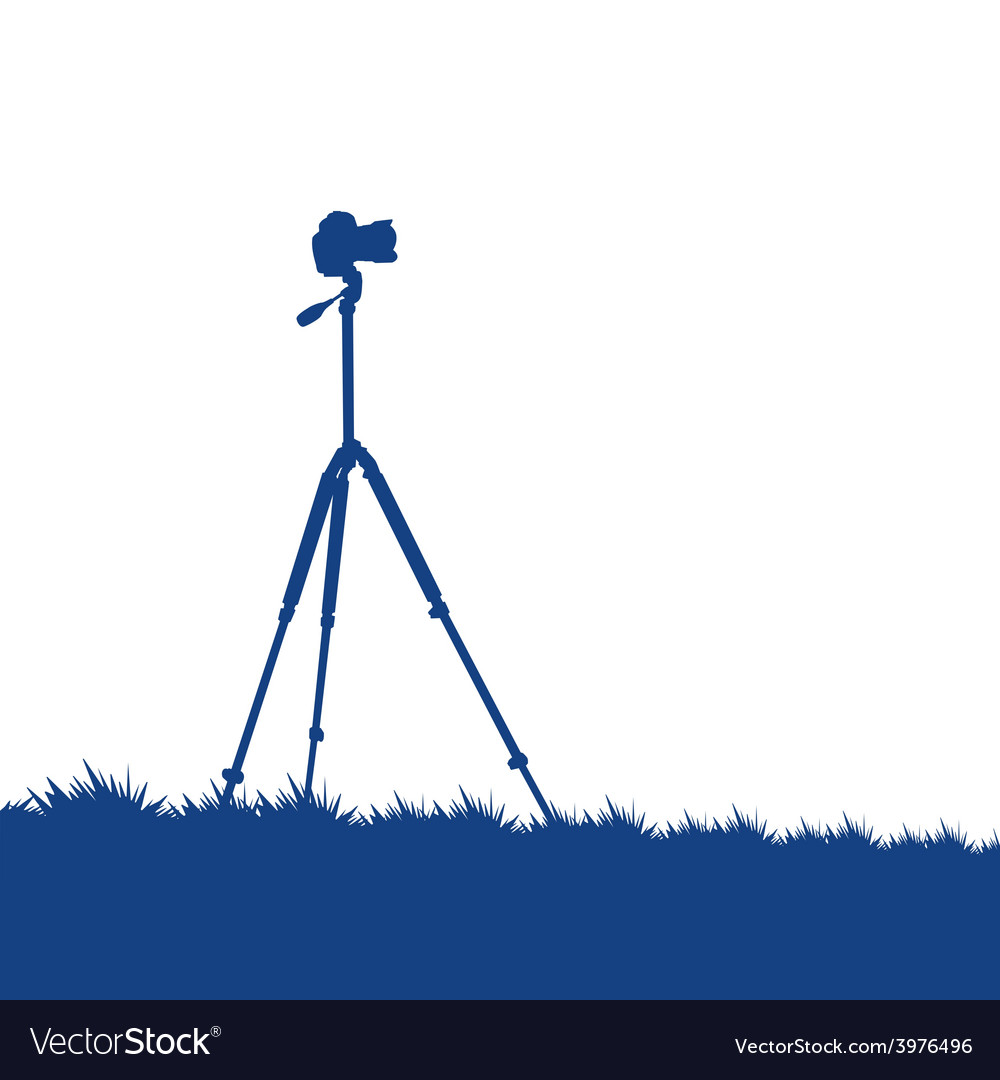 Camera on a tripod vector image