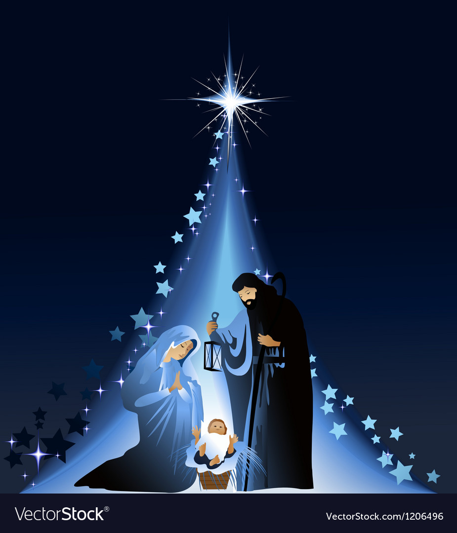 Christmas nativity scene Royalty Free Vector Image