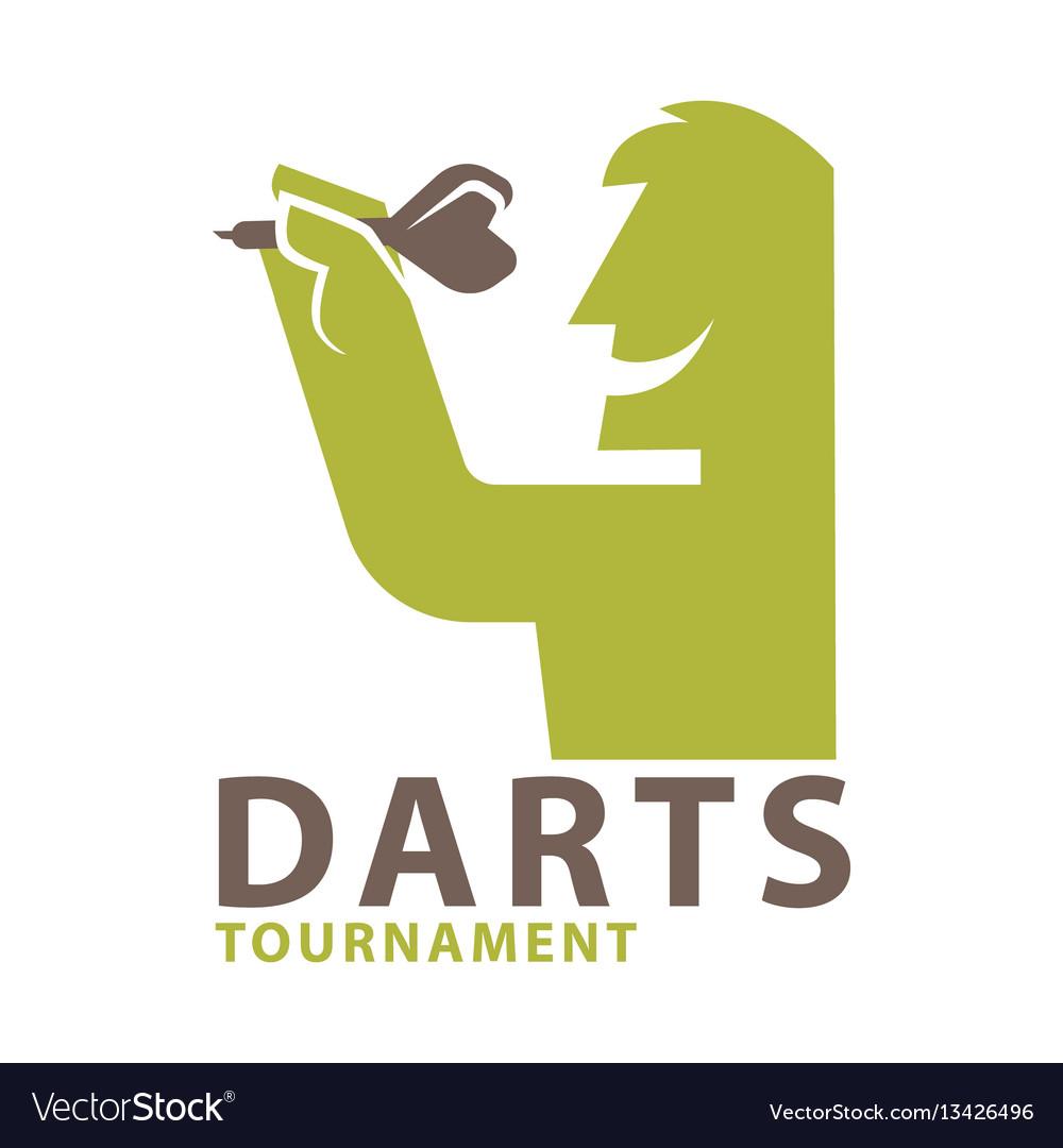 Darts Championship Logo Template Vector Image