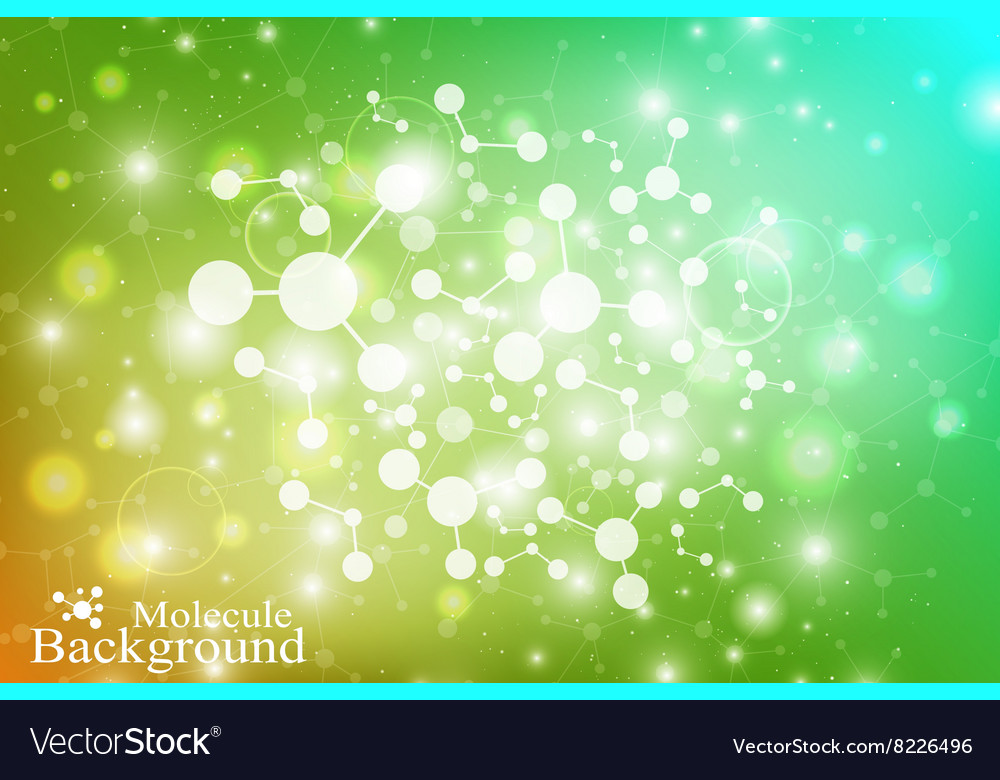 Graphic background molecule and communication