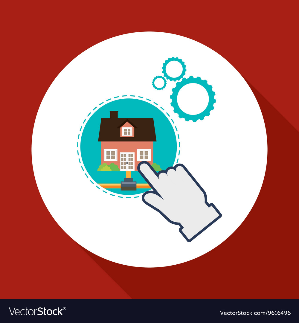 Home automation design smart house icon house Vector Image