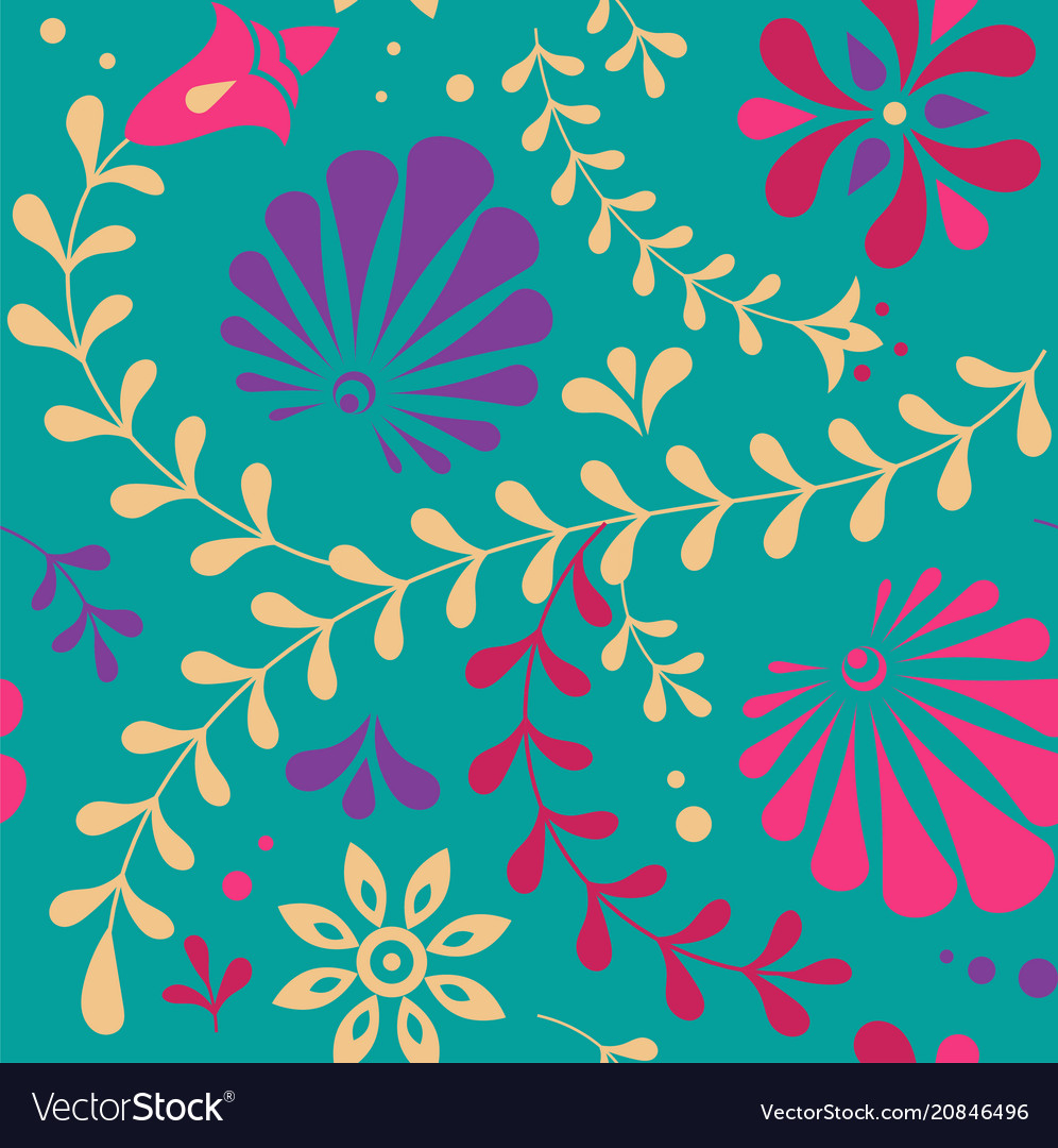 Indian seamless pattern background vector image