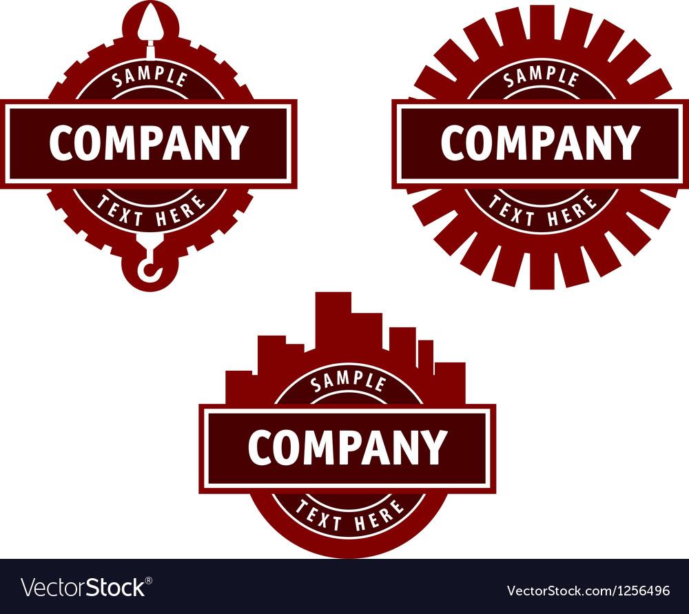 Logo for a construction company vector image