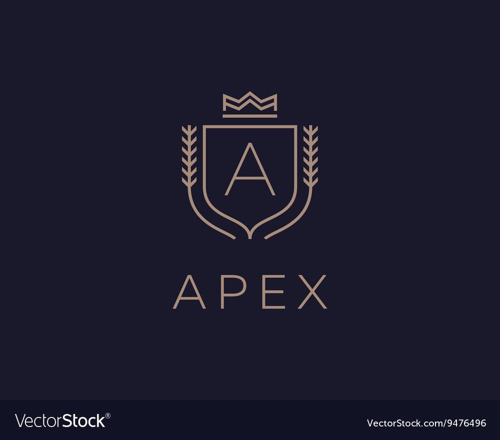 Premium monogram letter A initials ornate