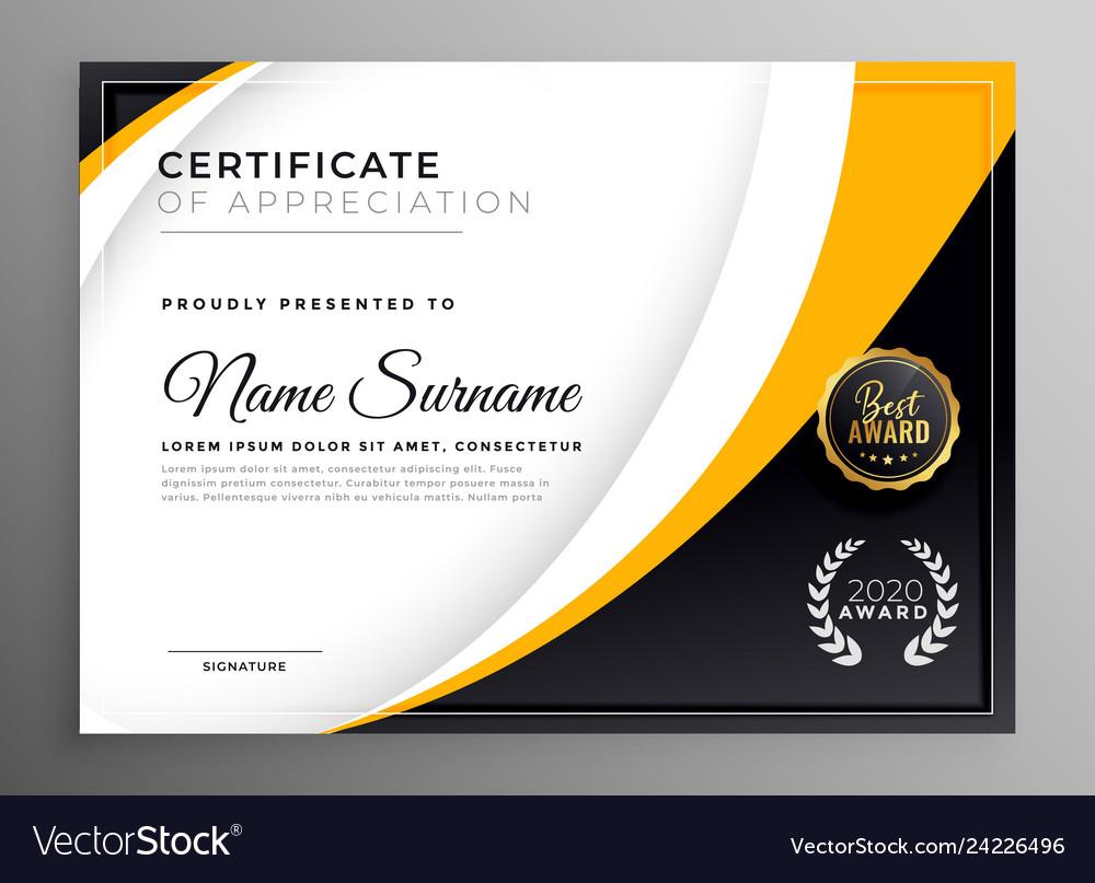Professional certificate template diploma award Vector Image Pertaining To Professional Award Certificate Template