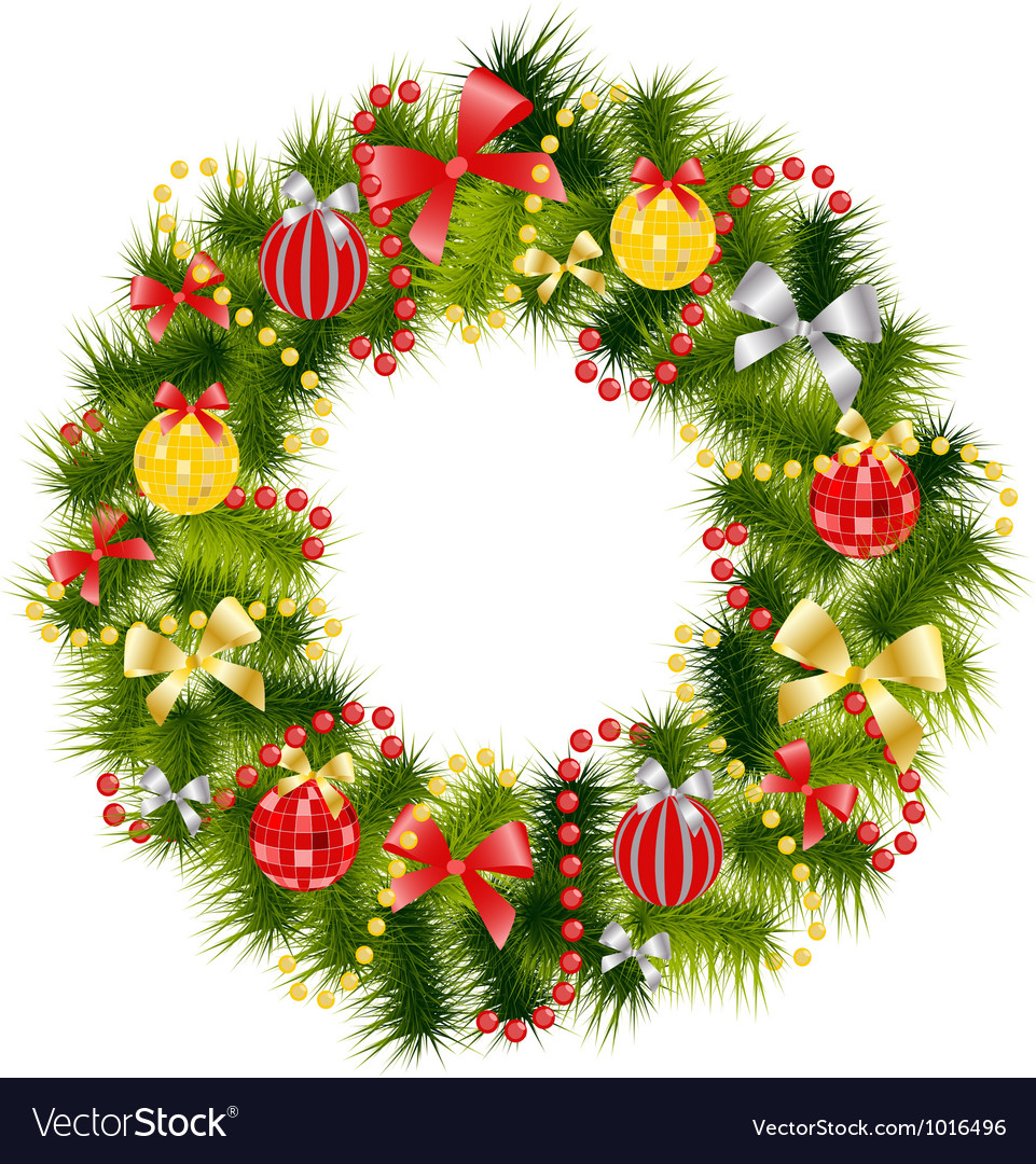 Christmas Wreath Images Free.Realistic Christmas Wreath