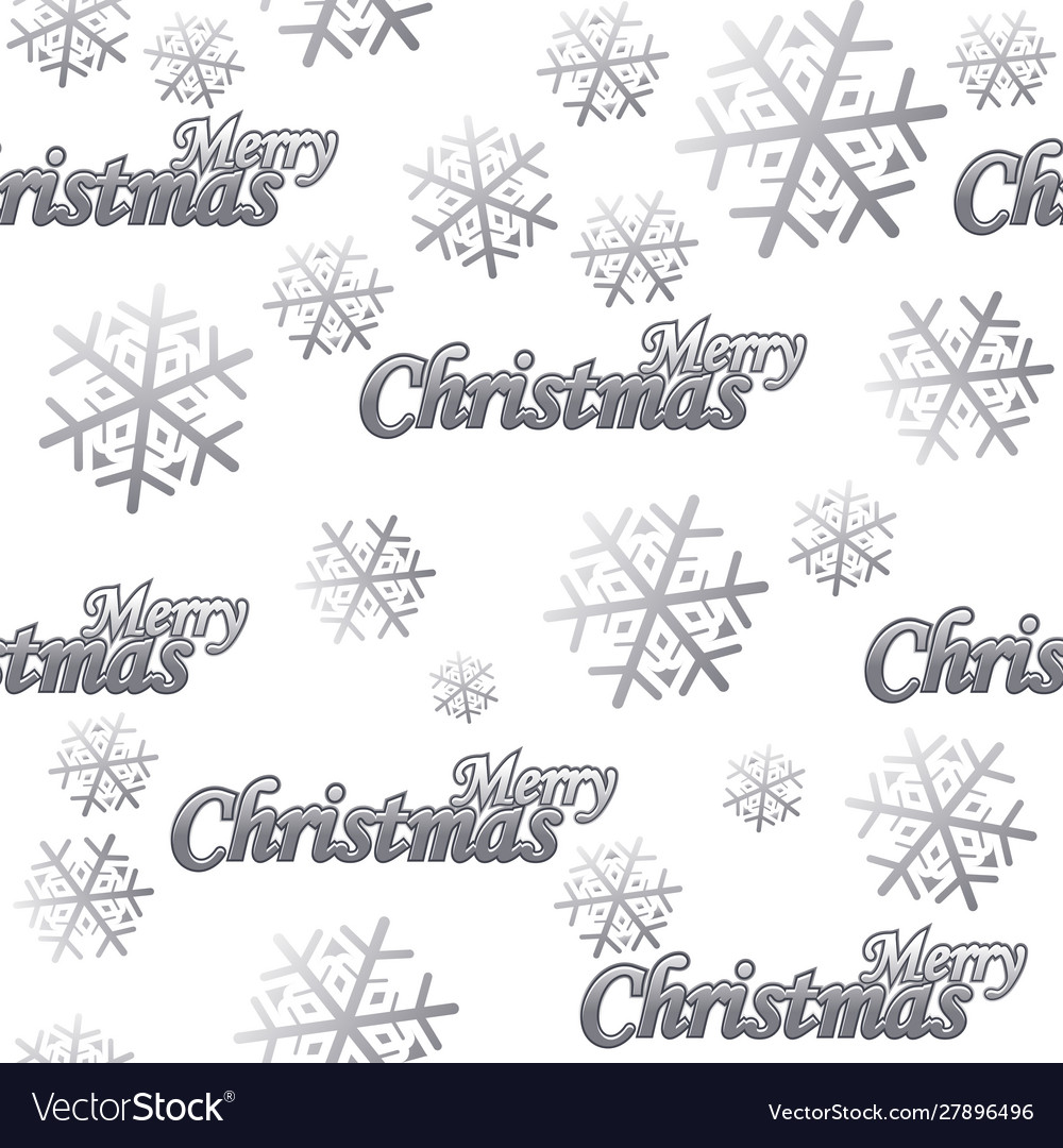 Seamless pattern merry christmas silver logo