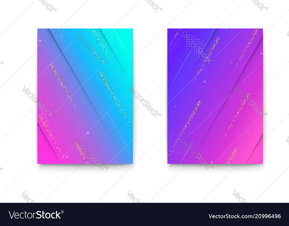 Set covers with geometric colored shapes and