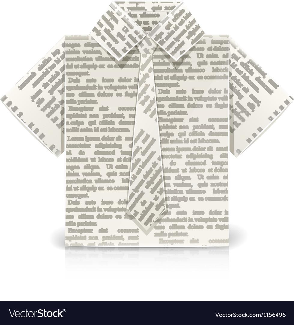 Shirt Origami Toy Royalty Free Vector Image Vectorstock