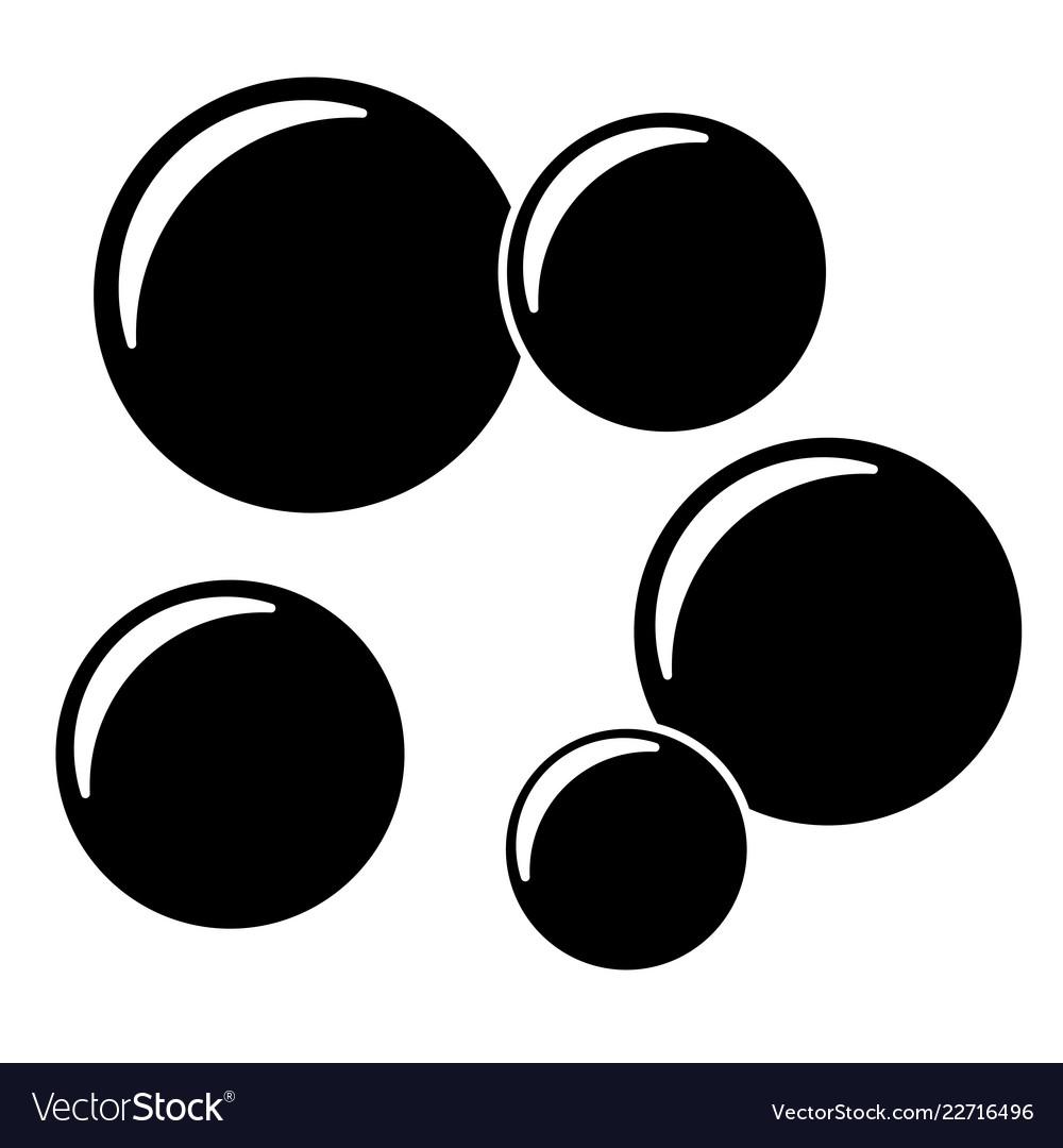 soap bubbles icon royalty free vector image vectorstock