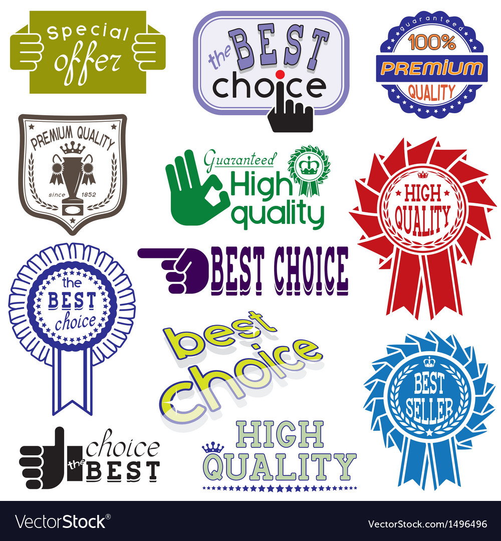 Stickers and labels set vector image