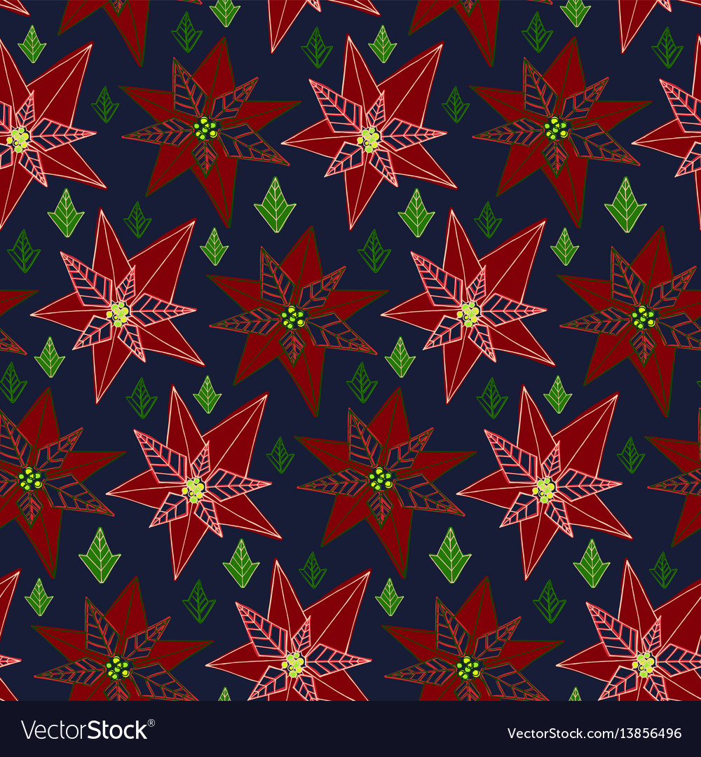 Stylised floral colorful vibrant seamless