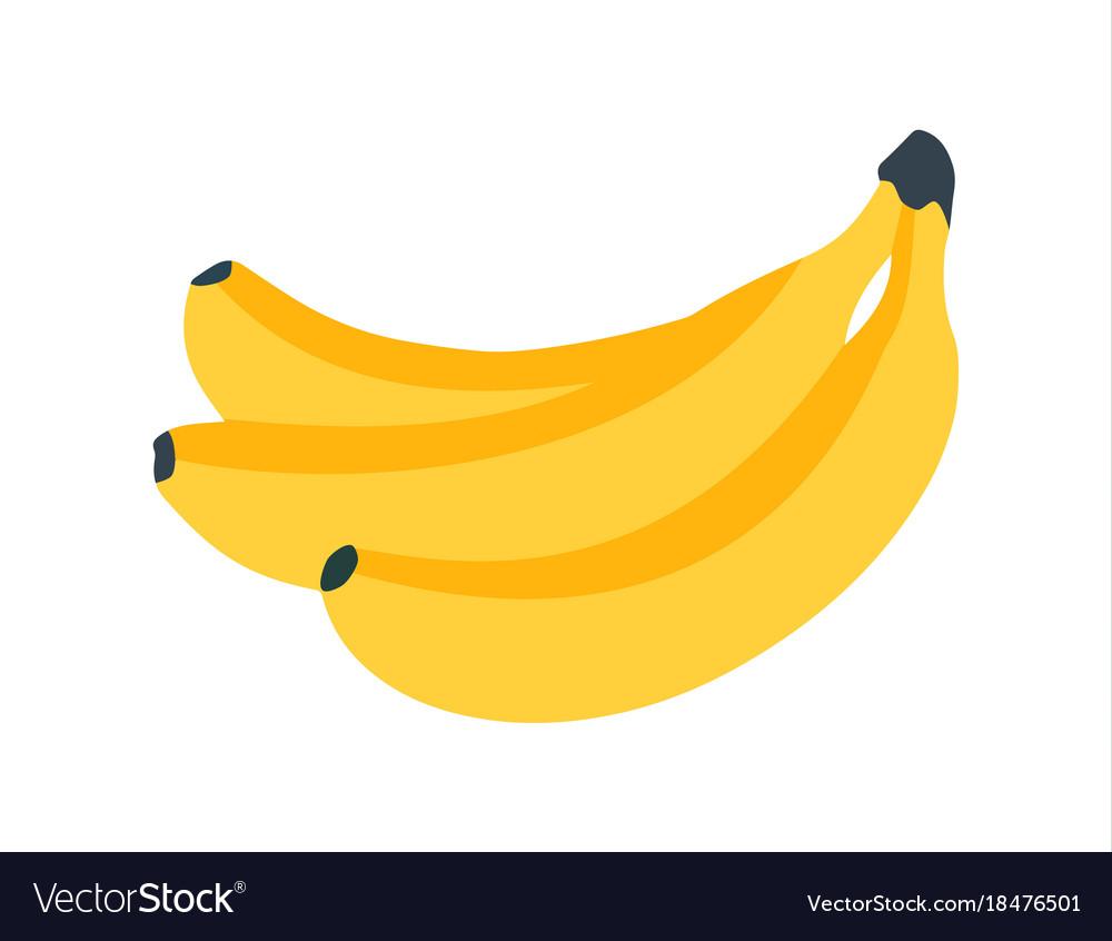 Banana icon fresh banana on white